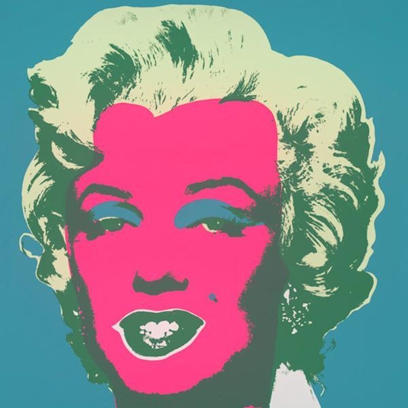 Andy Warhol Marilyn Pink Turquoise Serigraph Sunday B. Morning