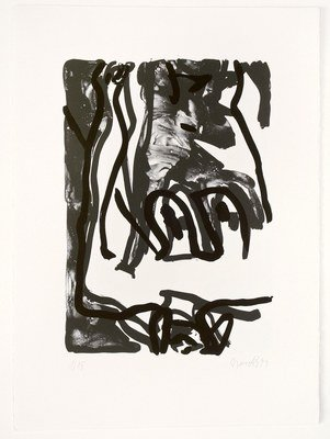 Georg Baselitz Rose Print Lithograph