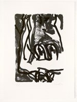 Georg Baselitz Rose Grafik Lithografie