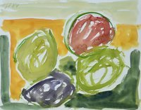 Günther Förg Watercolor Untitled 2004