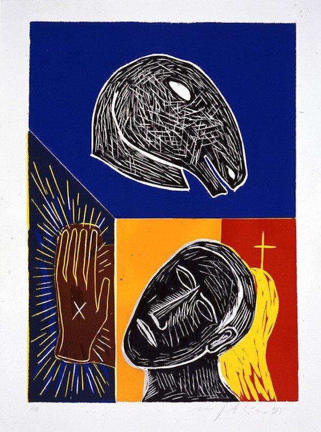 Mimmo Paladino Grafik Linoldruck Untitled (1995)