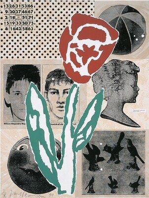 Donald Baechler Grafik Siebdruck Collage Untitled (1995)