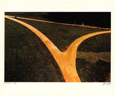 Christo and Jeanne-Claude Wrapped Walk Ways Photograph
