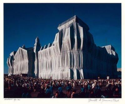 Christo und Jeanne-Claude Reichstag 16 Uhr Fotografie