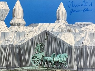 Christo and Jeanne-Claude Print Reichstag mit Quadriga