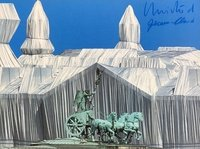 Christo and Jeanne-Claude Print Reichstag mit Quadriga