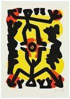 A.R. Penck Grafik Radierung Serie III Erbe