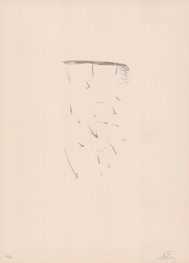 Antoni Tapies Lithographie Clau del Foc XI