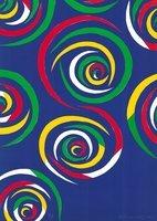 Piero Dorazio Lithographie Cercles du nuit