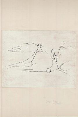 Joseph Beuys Zirkulationszeit: Tote Hirsche Radierung