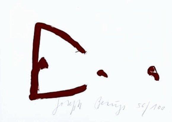 Joseph Beuys Schamanentopf Siebdruck Grafik