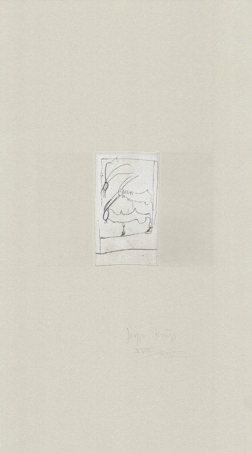 Joseph Beuys Radierung Tränen: Riesenziegen