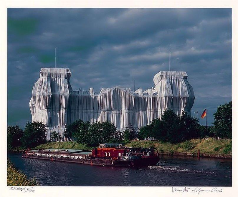 Christo und Jeanne-Claude Reichstag Nordfassade Fotografie