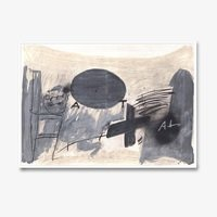 Antoni tapies oval gris 1527 small