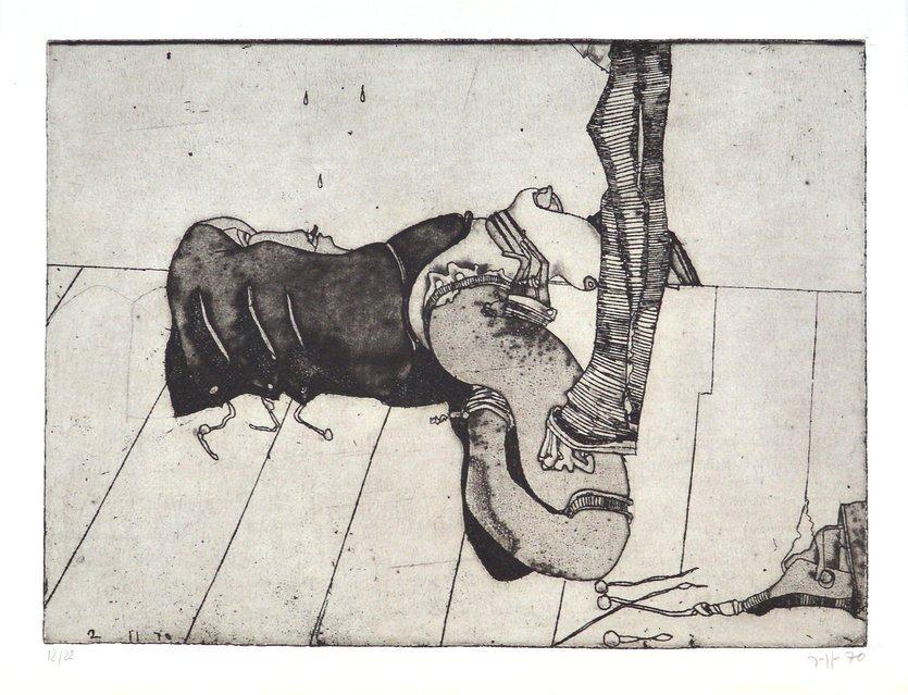 Horst Janssen Radierung Grafik Allüre