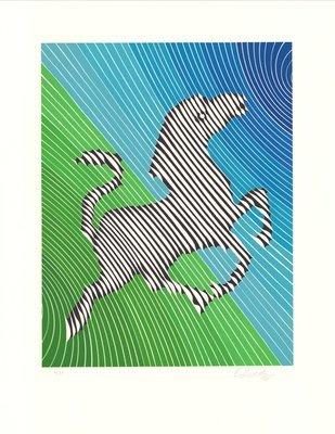 Victor Vasarely Zebra No. 2 (I) Lithographie
