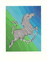 Victor Vasarely Zebra No. 2 (I) Lithograph
