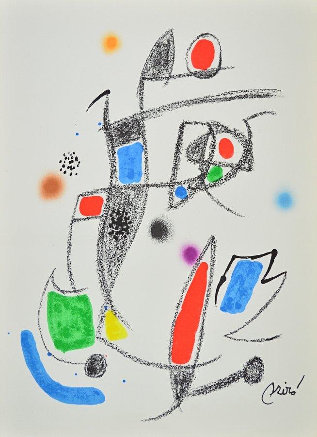 Joan Miro Maravillas 10 Lithographie Grafik