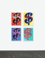 Andy Warhol Dollar Signs Set Serigraph Sunday B. Morning