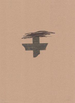 Antoni Tapies Print Llambrec Material I