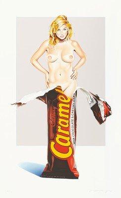 Mel Ramos Caramia Caramello Lithografie Grafik