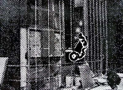 Sigmar Polke Motorradfahrer Siebdruck Grafik
