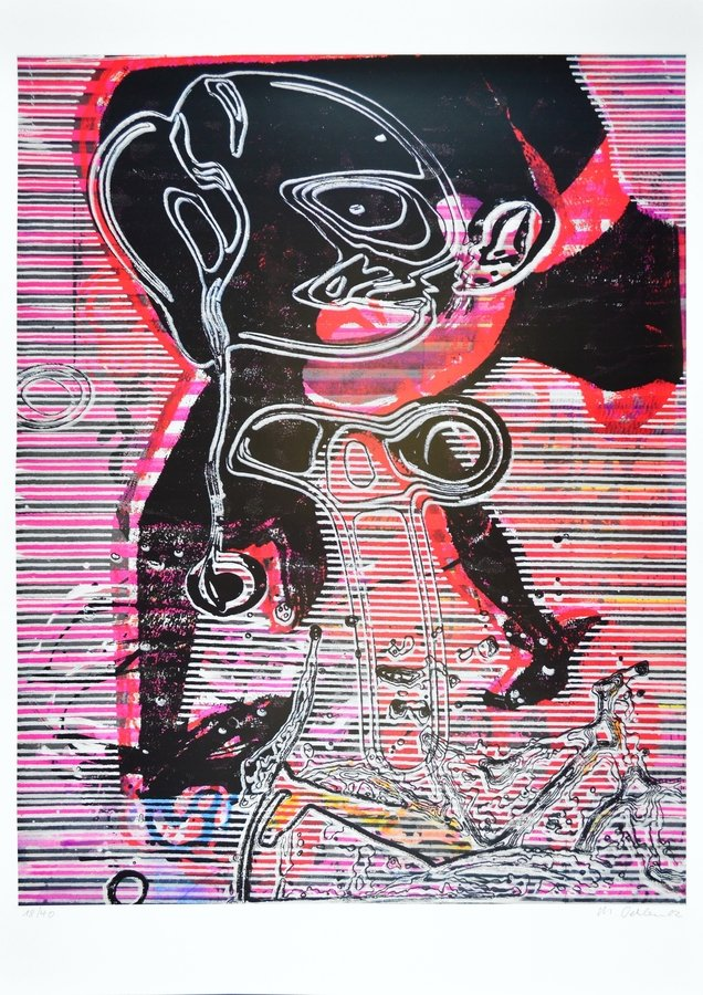 Markus Oehlen Grafik Offset Lithographie Old Venlo