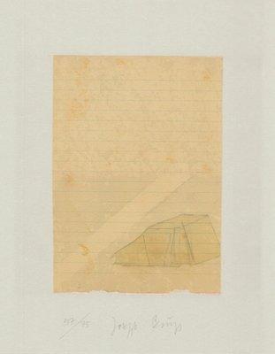 Joseph Beuys Print Schwurhand: Zelt Und Lichtstrahl