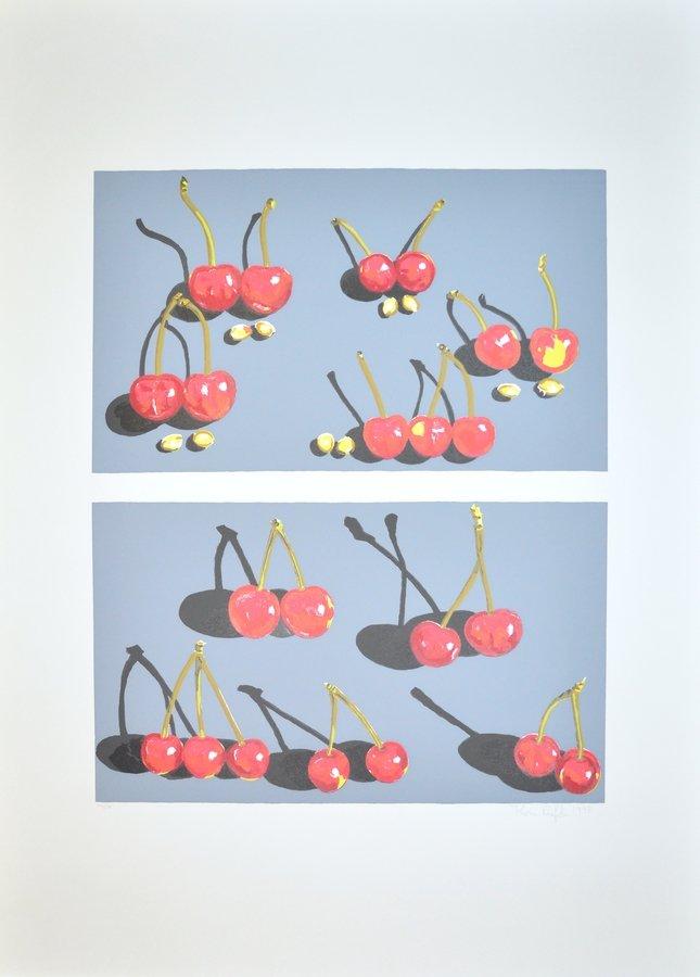 Karin Kneffel Cherries Print Serigraph