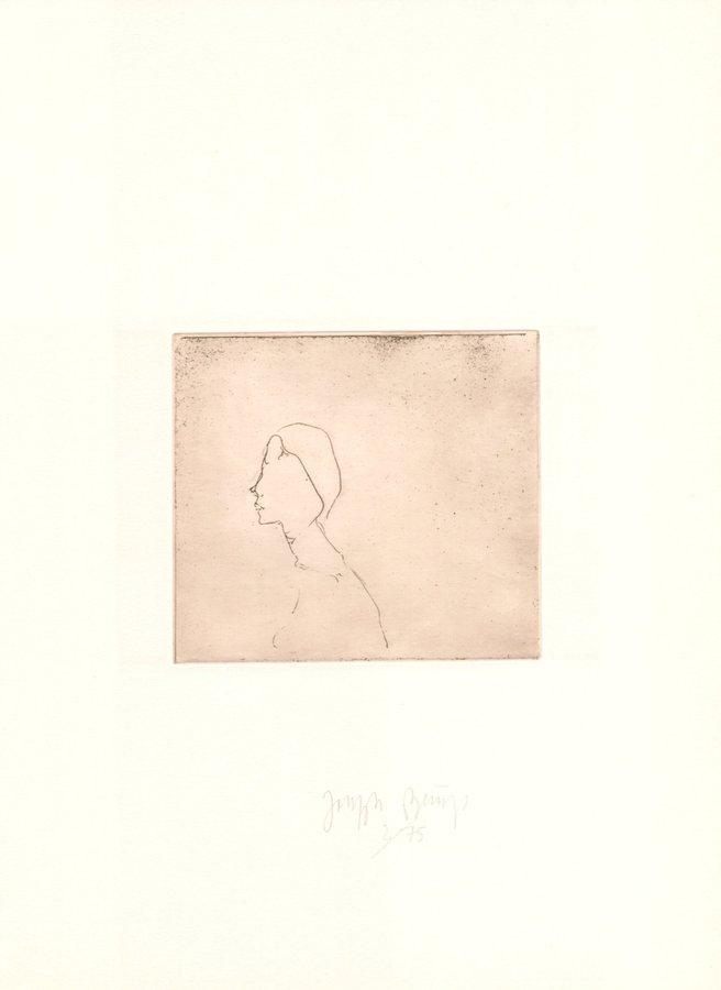 Joseph Beuys Radierung Zirkulationszeit: Kopf H.B.
