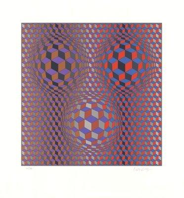 Victor Vasarely Print Konjunktion