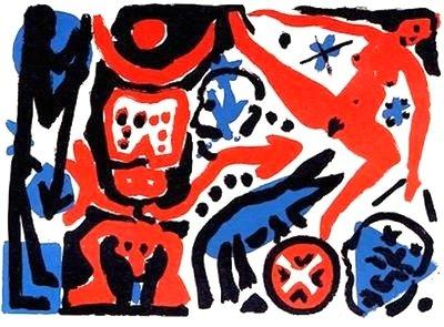 A.R. Penck Kippe Print Serigraph