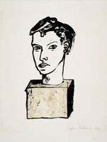 Stephan Balkenhol Original Print Lithograph Untitled - Head