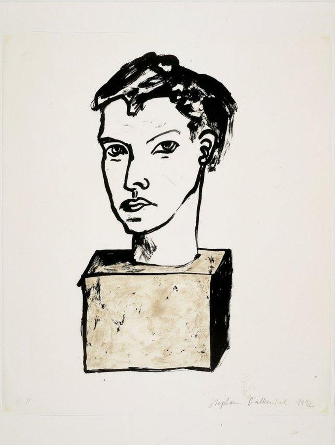 Stephan Balkenhol Original Print Lithograph Untitled - Head