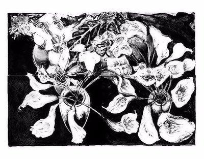 Norbert Tadeusz Lithographie Grafik Set Calla-Pape