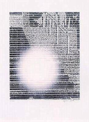 Sigmar Polke Die Treppe von Cannes Grafik Lithographie