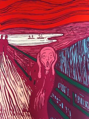 Andy Warhol The Scream Pink Siebdruck Sunday B. Morning