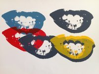 Andy Warhol I Love Your Kiss Forever Serigraph Sunday B. Morning