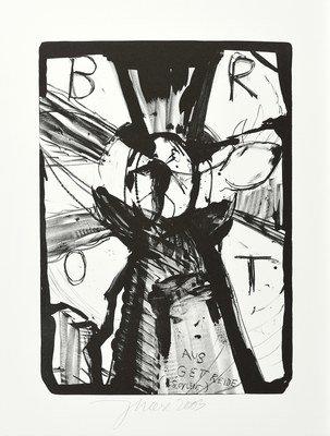 Jonathan Meese Die Insektengöttin Grafik Lithografie