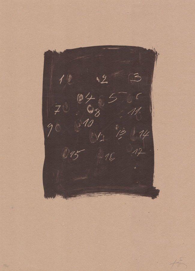 Antoni Tapies Lithograph Llambrec Material III