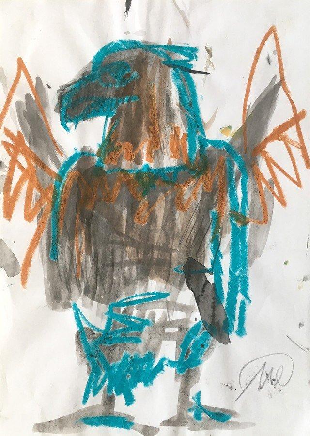 Markus Lüpertz Eagle Drawing