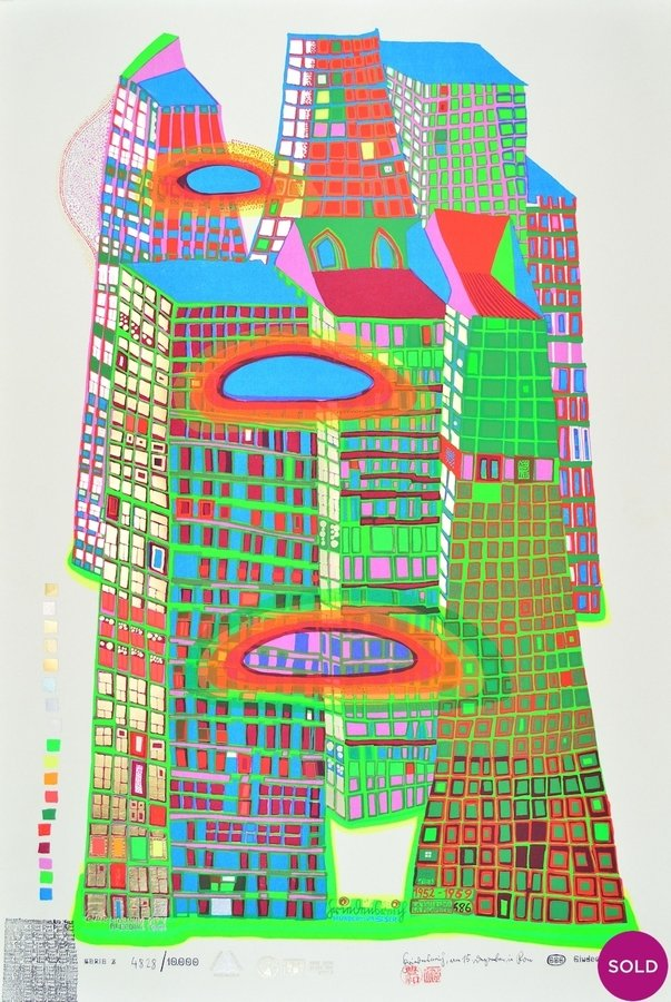 Friedensreich Hundertwasser Good Morning City Original Grafik