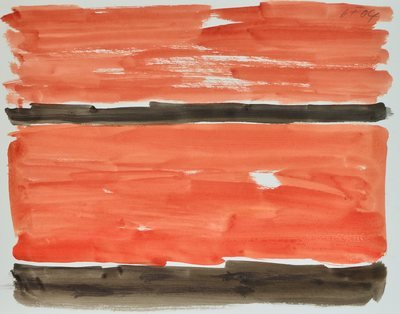 Günther Förg Watercolor Untitled II 2004
