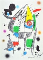 Joan Miro Lithographie Grafik Maravillas 20