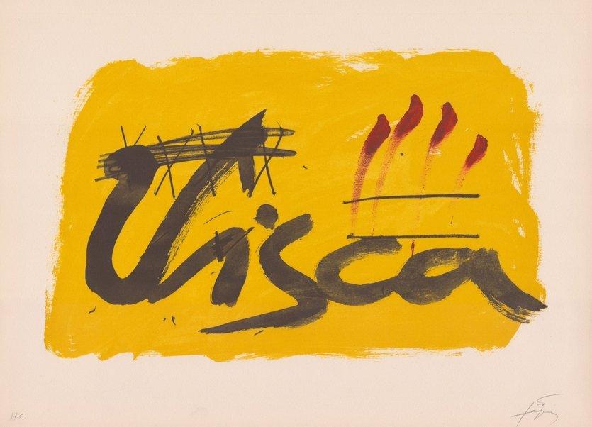 Antoni Tapies Lithographie Clau del Foc VIII