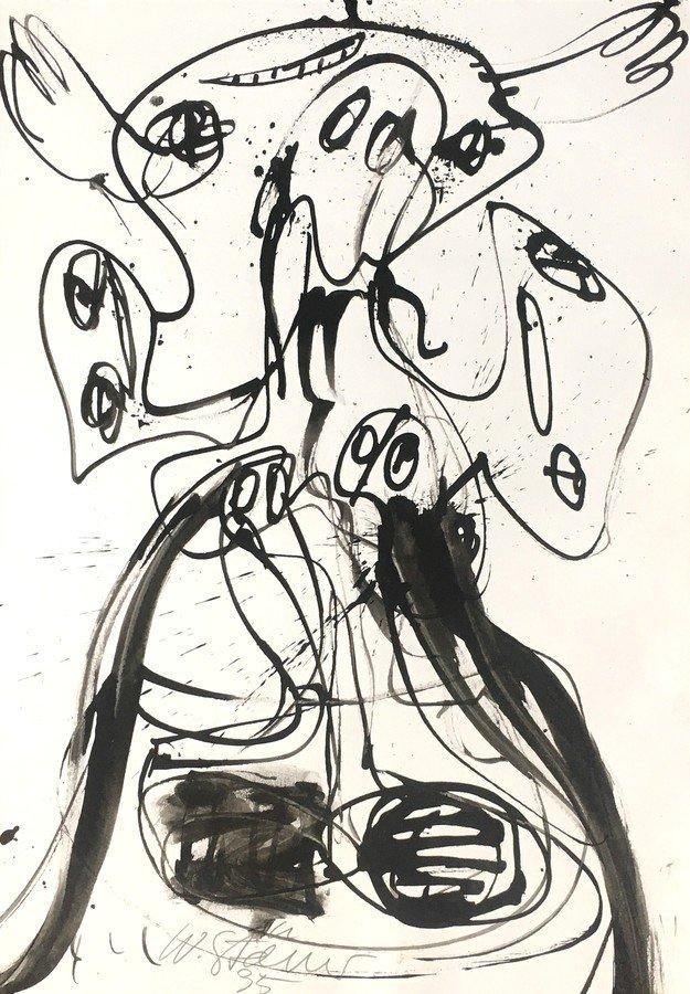 Walter Stöhrer Drawing Untitled VIII 1995