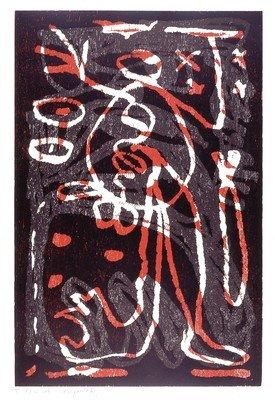 A.R. Penck Grafik Holzschnitt Untitled II (1992)