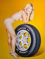 Mel Ramos Tyra Tyre Lithograph Print