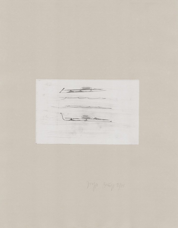 Joseph Beuys Zirkulationszeit: Urschlitten I Grafik