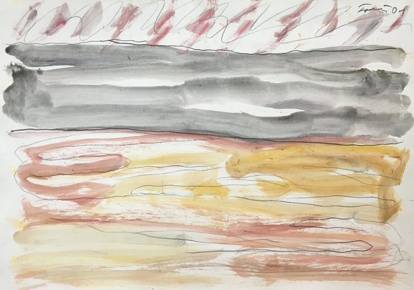 Günther Förg Watercolor Untitled 2001